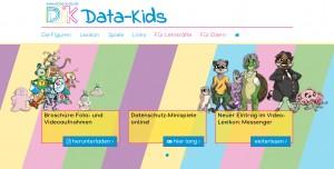 Data-Kids: Homepage mit Angeboten für Grundschulkinder, Eltern und Lehrkräfte