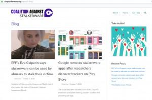 Blog der Coalition Against Stalkerware