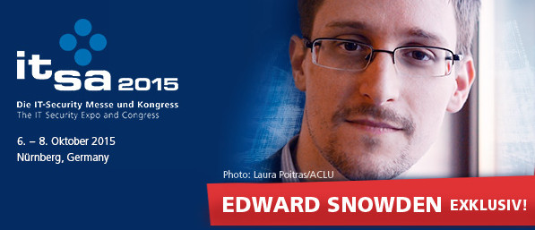 it-sa 2015 - Exclusive keynote speech by Edward Snowden