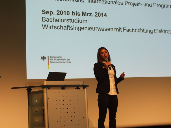 it-sa 2018: Messe-Campus, Vanessa Weißig