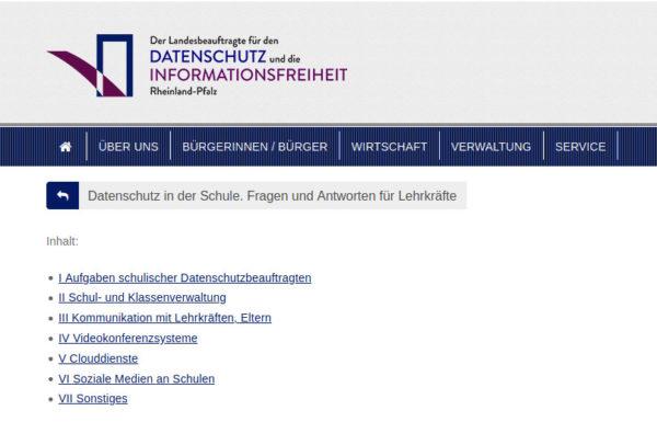 lfdi-rlp-website-faq-datenschutz-schulen