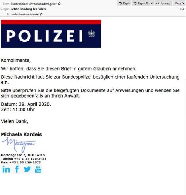 proofpoint-polizei-oesterreich-nachricht-faelschung
