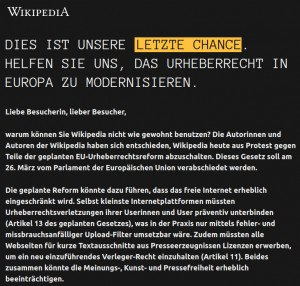 Screenshot: https://wikipedia.de 21.03.2019