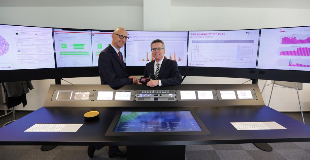 Eröffnung des Cyber Defence Centers der Deutschen Telekom