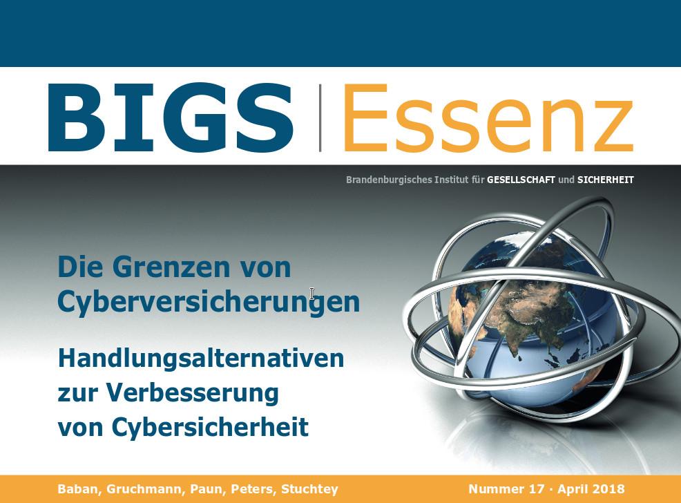 """BIGS Essenz Nr. 17: """"Die Grenzen von Cyberversicherungen..."""""""