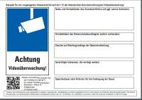 ULD: Beispiel für vorgelagertes Hinweisschild n. Art. 13 DSGVO b. Videoüberwachung